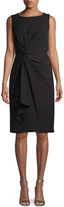 Donna Karan Twist-Front Knee-Length Dress