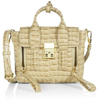 3.1 Phillip Lim Mini Pashli Croc-Embossed Leather Satchel