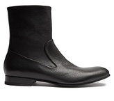 Alexander McQueen Zip-up leather ankle boots