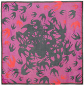 McQ Pink Swallow Swarm Scarf