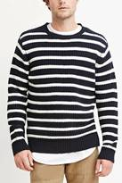 Forever 21 FOREVER 21+ Striped Cotton-Blend Sweater