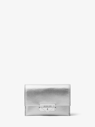 MICHAEL Michael Kors Cece Small Metallic Leather Wallet