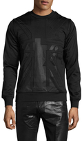 Diesel Black Gold Sonciuka Flag Destroy Sweatshirt