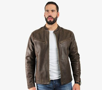 Frye Men's Cafe Racer Leather Jacket