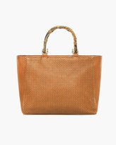 Chico's Bamboo Perforated Tote