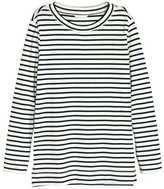 H&M Sweatshirt with Slits - White/striped - Ladies