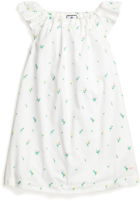 Petite Plume Girl's Isabelle Tulips Flutter-Sleeve Nightgown, Size 6M-14