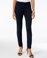 Alfani Petite Printed Hollywood Skinny Ankle Pants, Created for Macy's