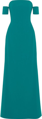 Sachin + Babi Off-the-shoulder Crepe Gown