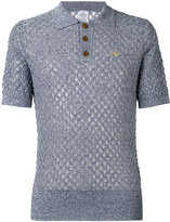 Vivienne Westwood Man - open knit polo shirt - men - Cotton/Linen/Flax/Polyamide - XS