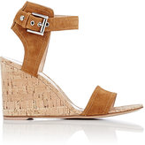 Gianvito Rossi Women's Rikki Wedge Sandals-TAN