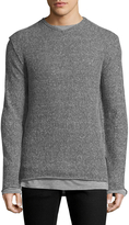 Karl Lagerfeld Men's Double Layer Sweater