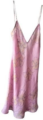 120% Lino Pink Linen Dress for Women