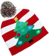 Lots a Lites Flashing Lights Holiday Christmas Beanie Cap