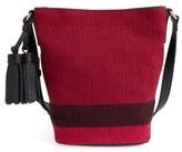 Burberry 'Mini Ashby' Bucket Bag - Red