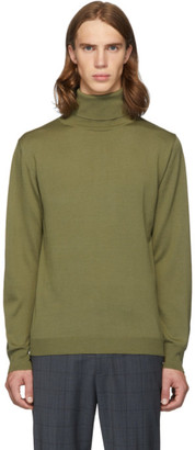 Tibi SSENSE Exclusive Khaki Merino Wool Slim-Fit Turtleneck