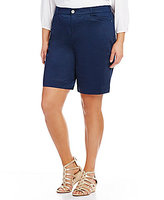 Intro Plus Hannah Solid Sateen Bermuda Shorts