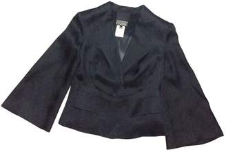 Gianfranco Ferre Black Silk Jackets