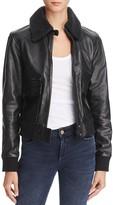 Joe's Jeans Bille Leather Bomber Jacket