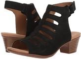 Clarks Valarie Shelly (Black Nubuck) Women's Sandals