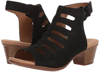 Clarks Valarie Shelly (Black Nubuck) Women's Sandals