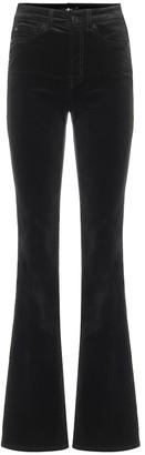 7 For All Mankind Lisha high-rise bootcut velvet pants