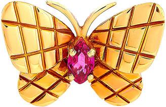Van Cleef & Arpels 18K Rose Gold Ruby Brooch