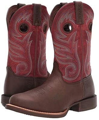 Durango 11 Rebel Pro Crimson Shaft (Dark Chestnut/Crimson) Men's Shoes