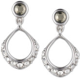 Judith Jack Sterling Silver Marcasite and Crystal Open Drop Earrings