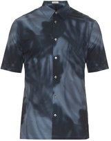 Balenciaga Shadow-print Cotton-poplin Shirt