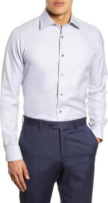 David Donahue Geometric Slim Fit Dress Shirt