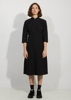 Comme des Garcons Garment Treated Oxford Mandarin Collar Fitted Dress