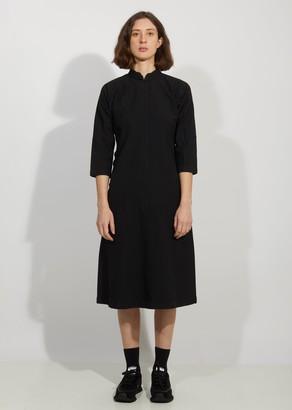 Comme des Garçons Comme des Garçons Garment Treated Oxford Mandarin Collar Fitted Dress