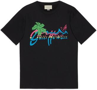 "Gucci Hawaii"" print oversize T-shirt"