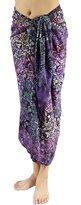Lotus Resort Wear Hand Paint Batik Sarong, Pareo/Scarf - Lotus7003