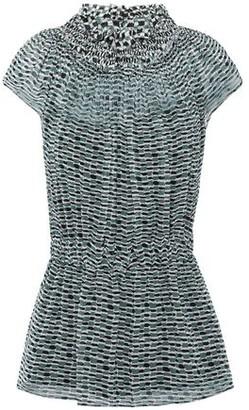 Proenza Schouler Shirred Printed Silk-georgette Top