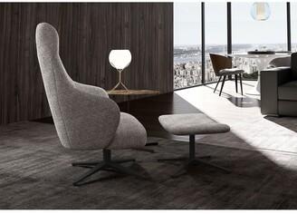 Modloft Bradhurst Lounge Chair and Ottoman in Griffin Fabric