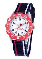Red Balloon Kids' W000348 Red Balloon Sporty Boy Tween Stainless Steel Red Bezel Sport Stripped Strap Watch