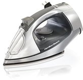 Hamilton Beach Steam Iron with Retractable Cord & Stainless Steel Soleplate (14881)