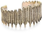 House of Harlow 1960 14k Gold-Plated Large Feather Row Cuff Bracelet