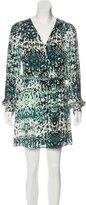 Parker Abstract Print Silk Dress