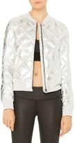 Alo Yoga Idol Metallic Quilted Bomber Jacket