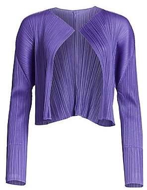 Pleats Please Issey Miyake Women's Draped Pleats Jacket