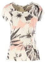 Rene Derhy Short-Sleeved T-shirt with Lace Back