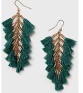 Dorothy Perkins Womens Green Tassel Earrings- Green