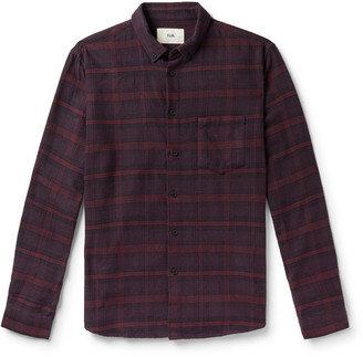 Folk Button-Down Collar Gingham Shirt