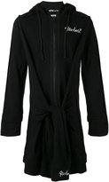 Kokon To Zai elongated tie waist hoodie - unisex - Cotton - S
