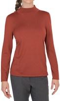 Pendleton Mock Turtleneck Sweater - Silk Blend (For Women)