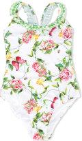 MonnaLisa floral swimsuit - kids - Polyester/Spandex/Elastane - 2 yrs