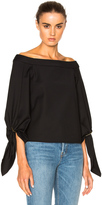 Tibi Off Shoulder Sculpted Top